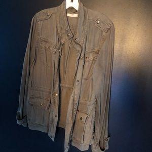 Army green military style jacket size medium
